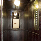 Leather Clad Lifts, Private Members Club, London