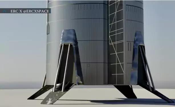 SpaceX Starship landing leg upgrades