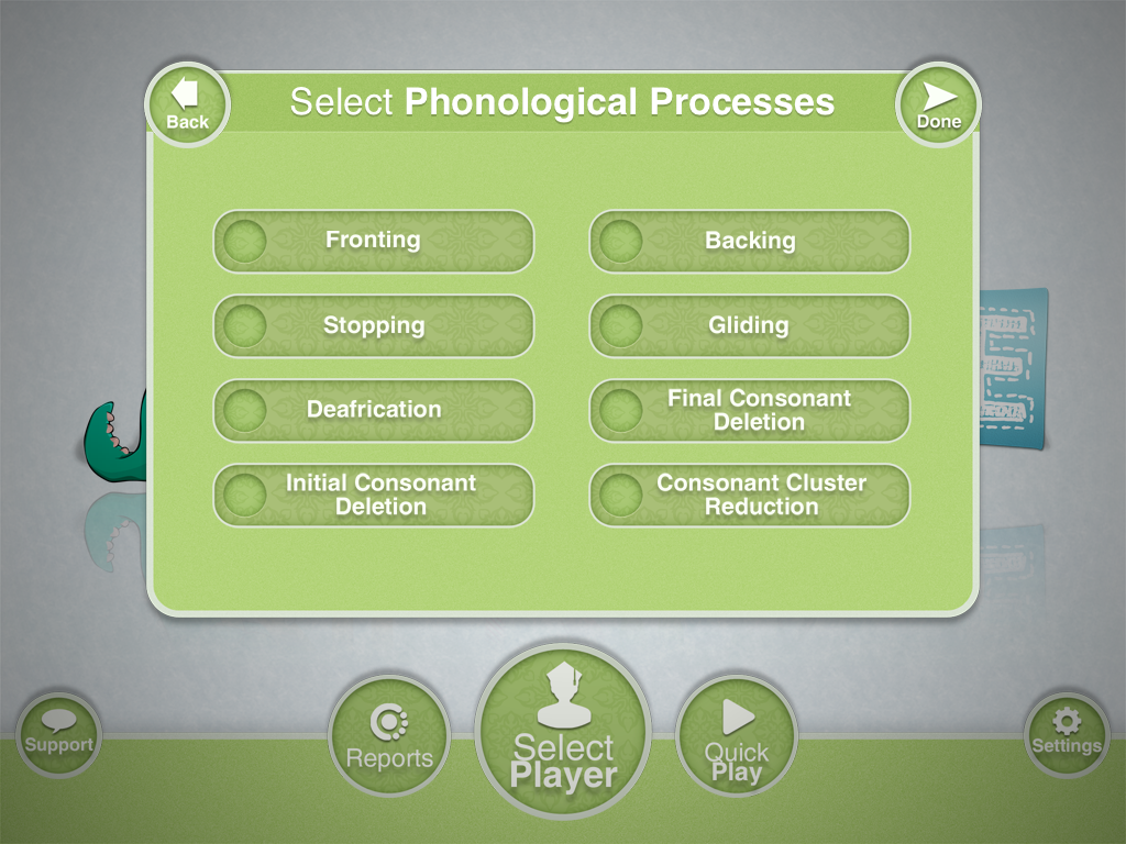 Articulate It Select Phonological Processes