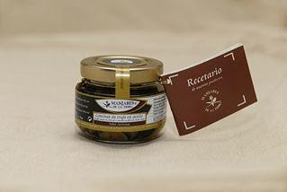 Photo: Tuber Aestivum Slivers: Extra virgin olive oil, Tuber Aestivum and salt. http://www.manjaresdelatierra.com/en/productos.php