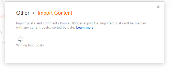 New Interface Import Content Not Working - Blogger Help