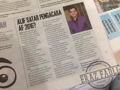 Alif Satar Pengacara AF 2016