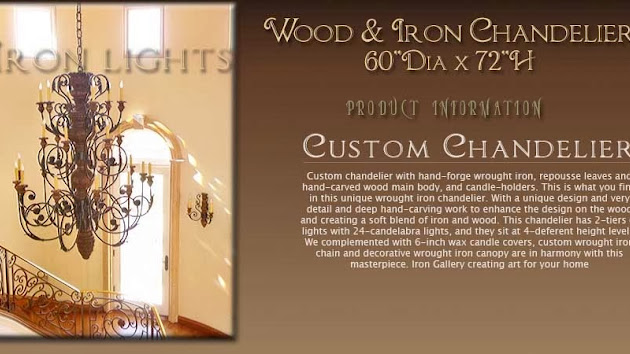 Cover photo for  Wrought Iron Chandeliers