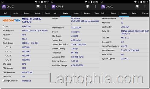 Benchmark Gotune 3 CPU Z
