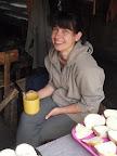 Spokojená vrchní kuchařka na začátku tábora
