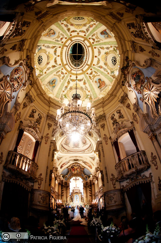 Foto de casamento 0898 de Monique e Joel. Marcações: 04/09/2010, Casamento Monique e Joel, Igreja, Igreja Nossa Senhora da Lapa dos Mercadores, Rio de Janeiro.
