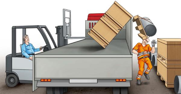Infortunio con il carrello elevatore