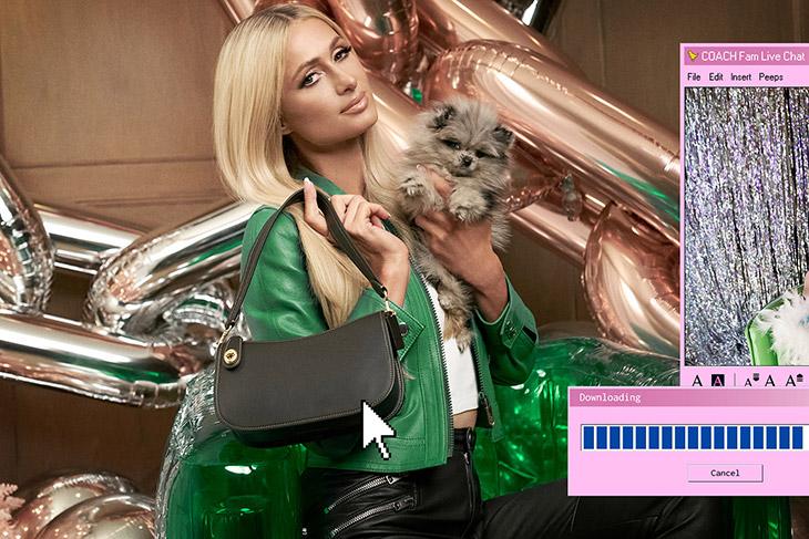 Paris Hilton, Rickey Thompson & Kim Petras Model Coach Swinger Bag