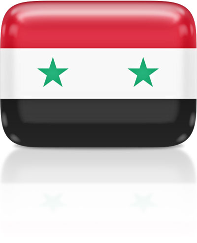 Syrian flag clipart rectangular