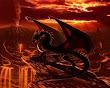 Dragon On Flame