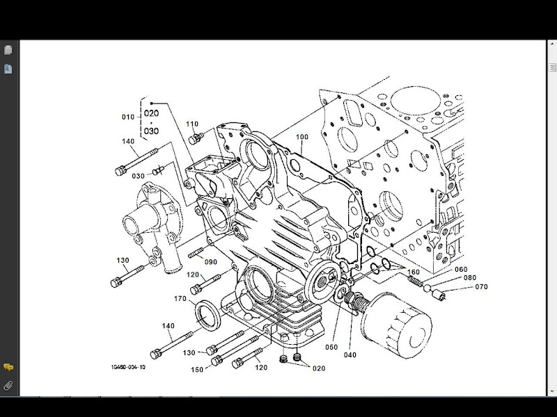 Kubota Bx 1500 Bx 1500 D Parts Manual 250pg Of Bx1500d Tractor