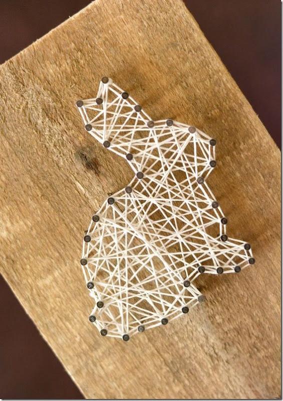 reaproveitamento madeira pascoa coelho decoração