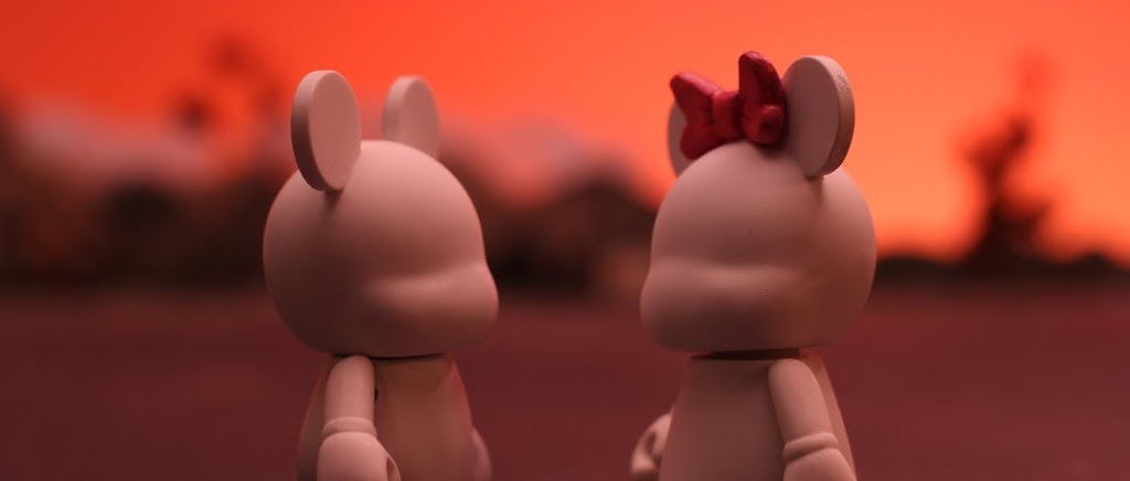 "Blank and Bow in Disney's ""Blank: A Vinylmation Love Story"" #BlankandBow"