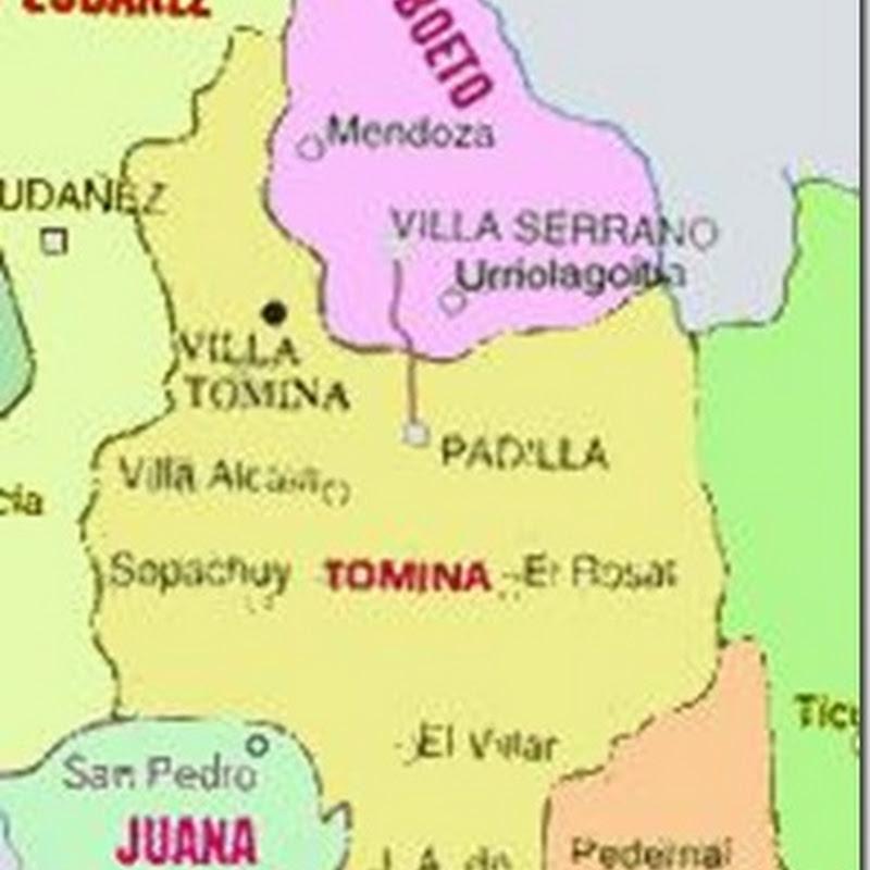 Provincia Tomina: departamento de Chuquisaca (Bolivia)