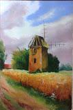 stary wiatrak, olej, płótno, 40x60 cm