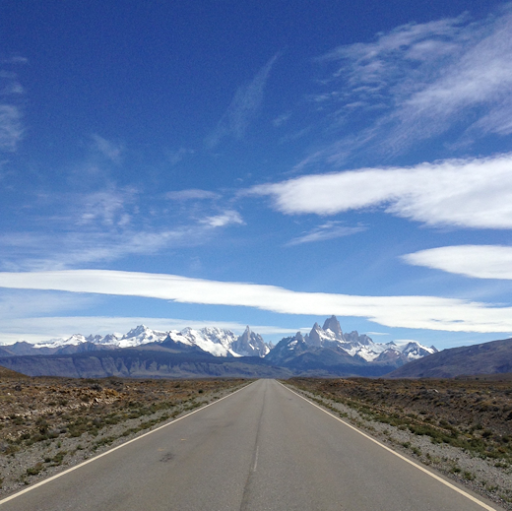the road to El Chalten, Patagonia, Argentina