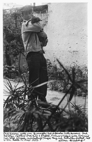 Jack Kerouac and a cat