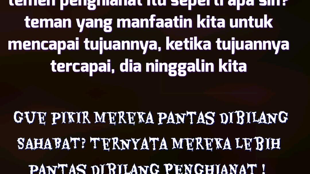 Kata Kata Sindiran Buat Teman Penghianat Bahasa Sunda