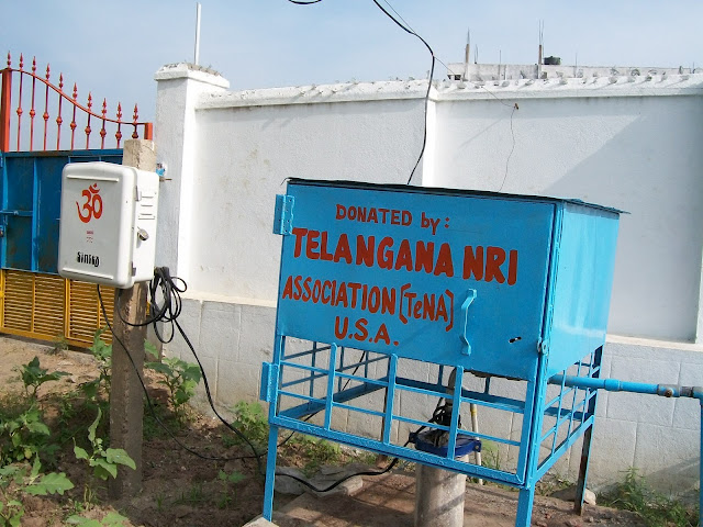 TeNA contributed Electric water pumping set, Ekalaya School, Mancherial, AP