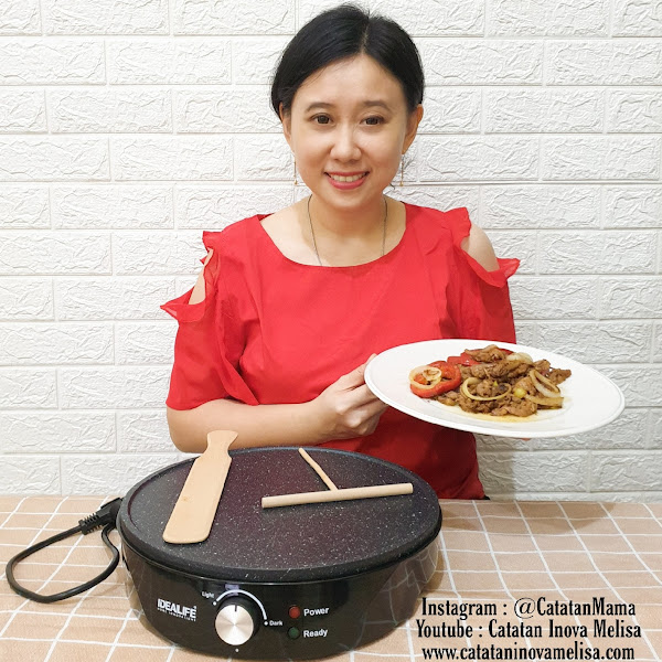 Masak Simple Dengan IDEALIFE Crepe Maker & Gril IL205