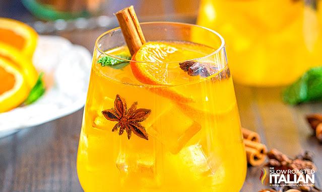 White wine sangria with orange juice