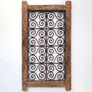 Wrought Iron & Pine Architectural Element
