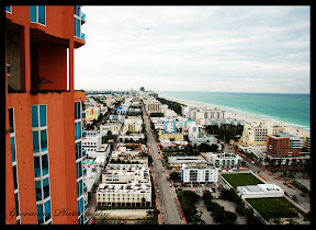 City of Miami, Florida. Photograph taken from Portofino Towers, 27th Floor.