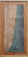"""""""Eiche"""", Ölpastell auf Papyrus, 34x82, 2005"""
