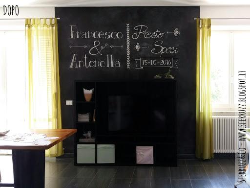 Pareti Di Lavagna : Menù e ricette scritte sulla parete d ingresso a mo di lavagna