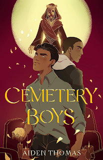 Two Latino boys stand back to back under a full moon, with the Lady Death hovering over them.