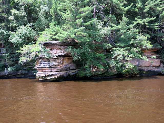The sandy water of the Wisconsin River
