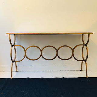 Contemporary Metal Console Table