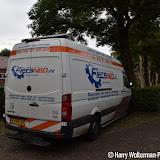 VVN controleert fietsen bij Theo Thijssenschool Boven Pekela - Foto's Harry Wolterman