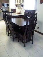 42″ x 36″ x 30″ Tuscany Dining Table and Vail Dining Chairs in Twilight Oak