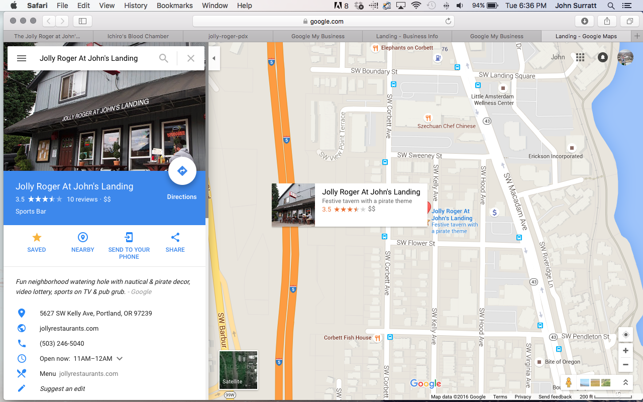 how to change a business adress on google maps