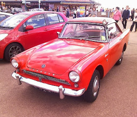 orange 60's sports car