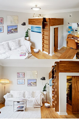 Laddered Loft Over Closet In A Bright, Youthful Studio From  Thirty Something Drama Queen.