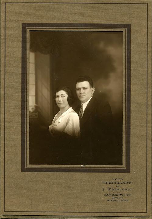 1935 - rosario - amalia e carlos -  gabutti
