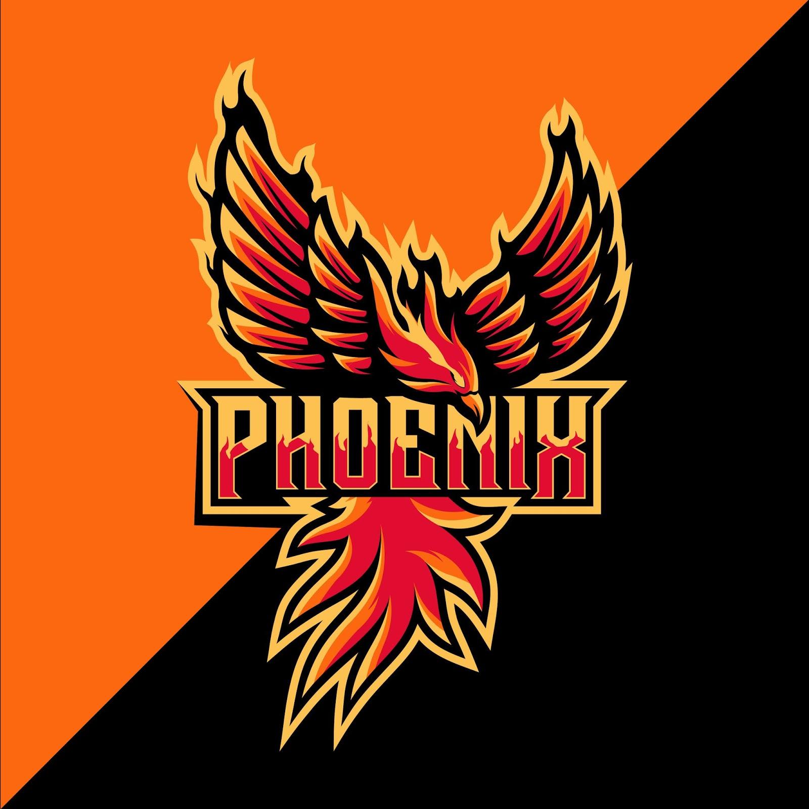 Phoenix Sport Mascot Logo Design Free Download Vector CDR, AI, EPS and PNG Formats