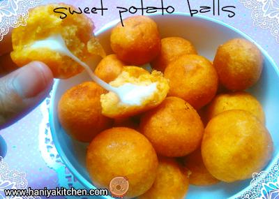 bola - bola ubi jalar / sweet potato balls