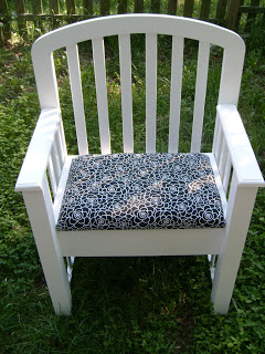 chair from crib parts