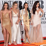 OIC - ENTSIMAGES.COM - Little Mix at the  The BRIT Awards 2016 (BRITs) in London 24th February 2016.  Raymond Weil's  Official Watch and  Timing Partner for the BRIT Awards. Photo Mobis Photos/OIC 0203 174 1069