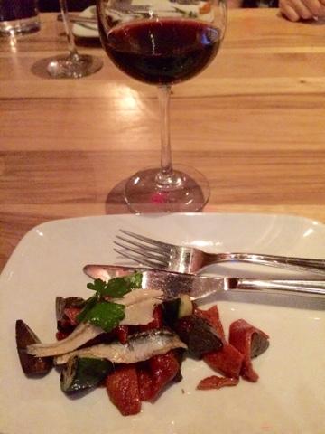 Sassy Wine Belly - Bullfight Restaurant, Austin - Escalivada, peppers, eggplant, rosemary, boquerones