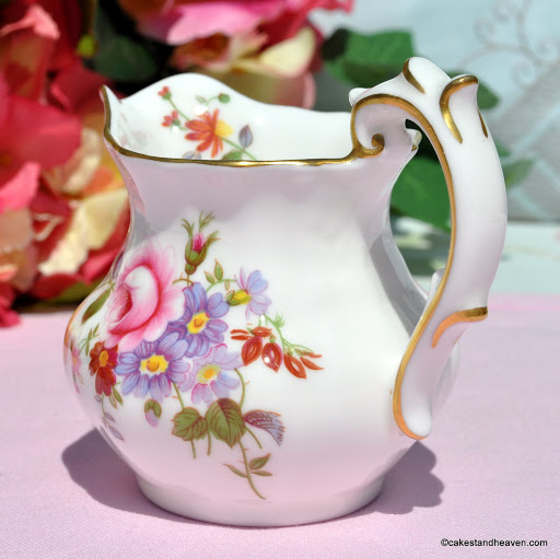 Derby Posies Vintage Bone China Creamer