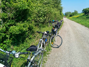 Photo: Viele kommen mit dem Fahrrad.
