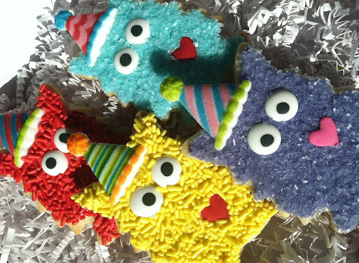 Dani's adorable (and delicious!) monster cookies.