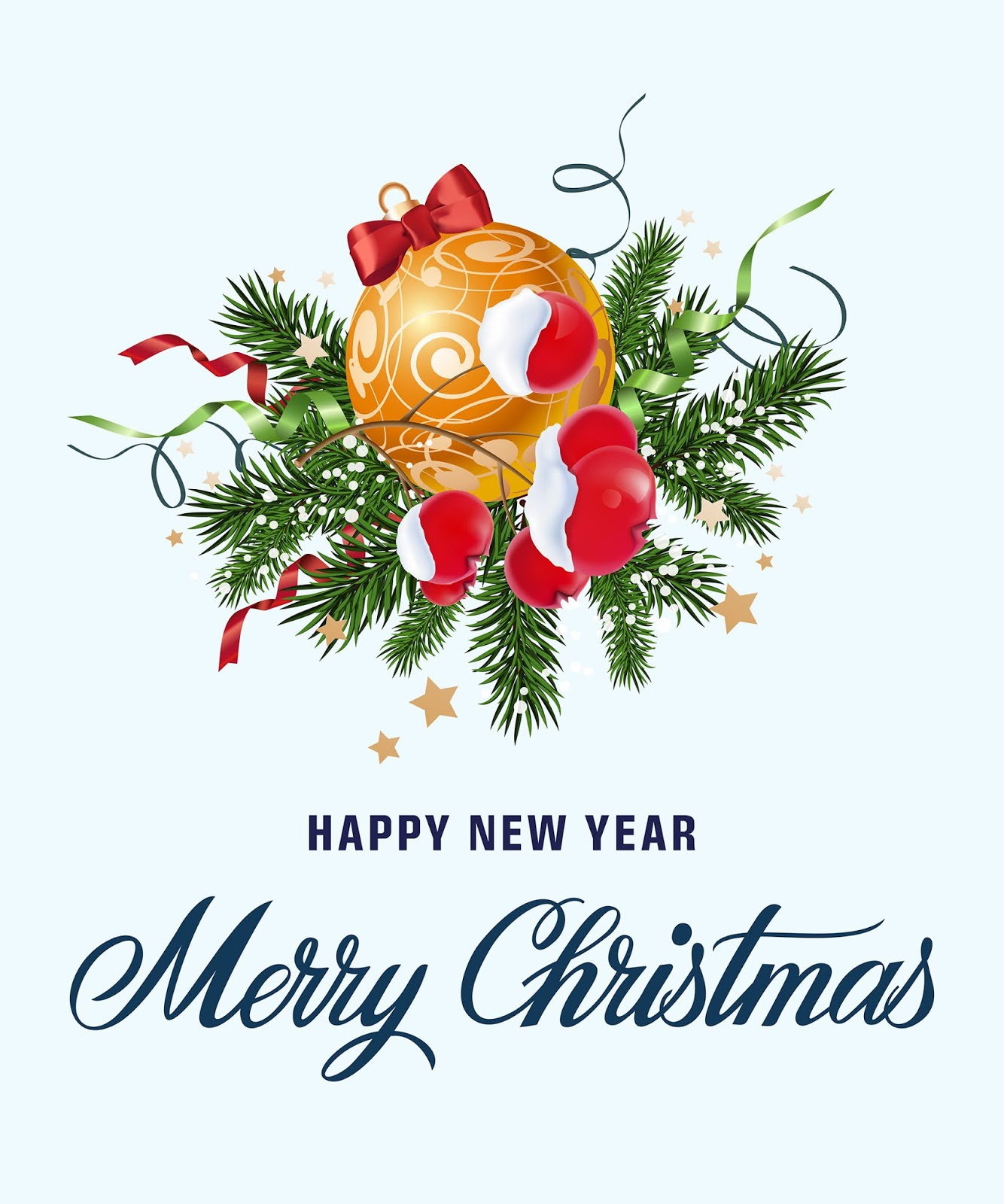 Greeting Lettering Bauble Mistletoe Free Download Vector CDR, AI, EPS and PNG Formats