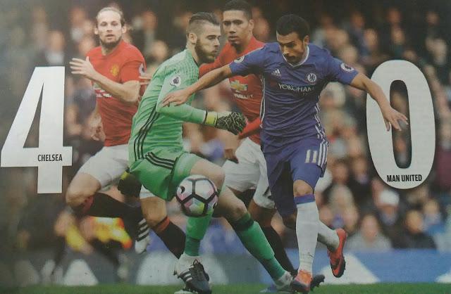 30 detik gawang jebol, Manchester United digunduli Chelsea 4 gol tanpa balas