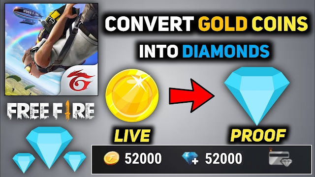 How to Convert Gold into Diamonds in Free Fire