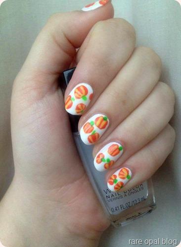 matte pumpkin nails